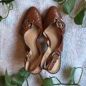 Brown Leather Vince Camuto Heels